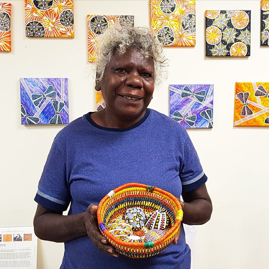 Tiwi Weaving - Rainbow Basket