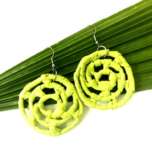Plant Based Native Earrings - Lime