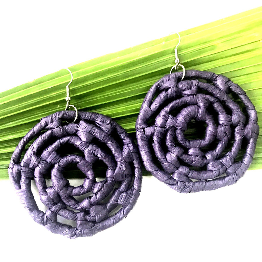 Plant Based Native Earrings - Purple