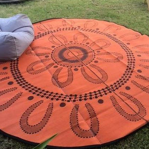 Starwin Social Enterprise, Aboriginal Mats - Campfire Orange 3m