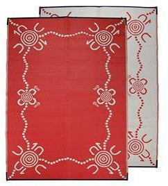 Starwin Social Enterprise, Aboriginal Mats - Tracks Red 2.7 x 1.8m
