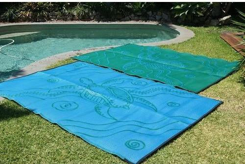 Starwin Social Enterprise, Aboriginal Mats - Turtle Journey Green