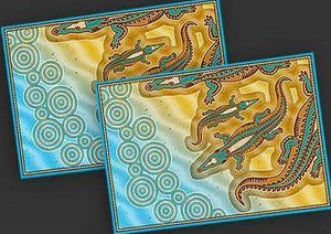 Starwin Social Enterprise, Aboriginal Placemats - Crocodile