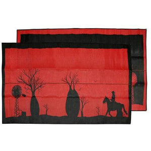 Aboriginal Recycled Mats - Boab Tree Red-Aboriginal Recycled Mats-Starwin Social Enterprise