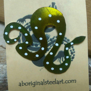 Aboriginal Steel Art Brooch - Snake-Aboriginal Steel Art-Starwin Social Enterprise