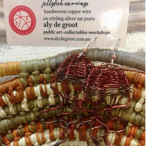 Starwin Social Enterprise, Aly de Groot Jellyfish Earrings - Copper