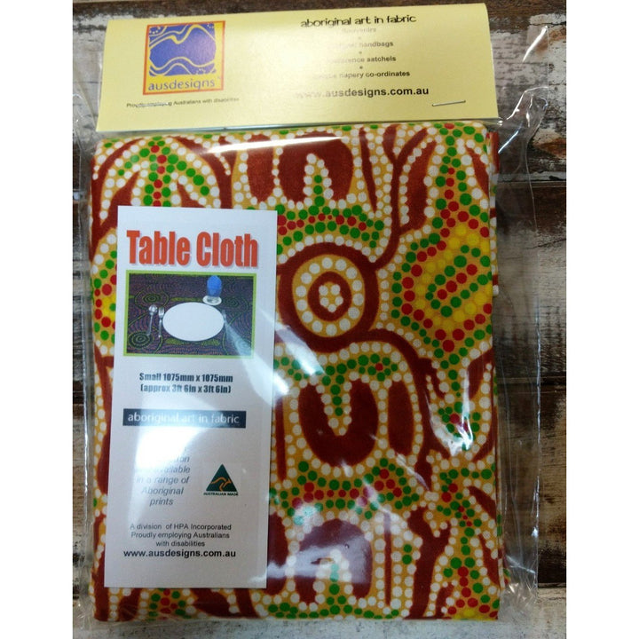Starwin Social Enterprise, Ausdesigns Small Table Cloth - Bush Yams