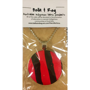 Bella & Reg 75cm Pendant - Red & Black-Bella & Reg-Starwin Social Enterprise