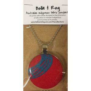 Bella & Reg 75cm Pendant - Red & Blue-Bella & Reg-Starwin Social Enterprise