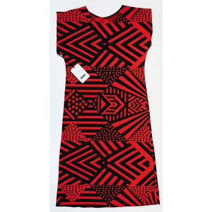 Bima Wear Sleeve Dress - Red-Bima Wear-Starwin Social Enterprise