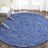 Starwin Social Enterprise, Recycled Mats - Floor Rug Blue Lagoon