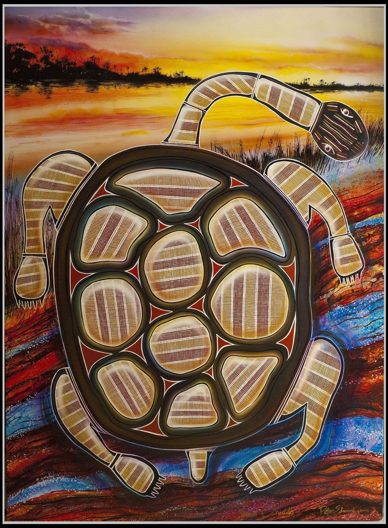 Starwin Social Enterprise, Fusion Art Turtle Dreaming Painting