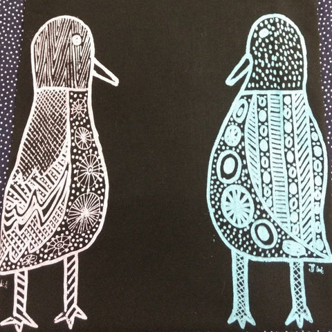 Jilamara Kids T-Shirt - Size 6 - Two Ducks by Janice Murray-Jilamara Arts & Crafts Assoc.-Starwin Social Enterprise