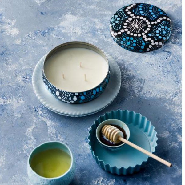 Keiora Candles - Saltwater Dreamtime Blue-Keiora-Starwin Social Enterprise