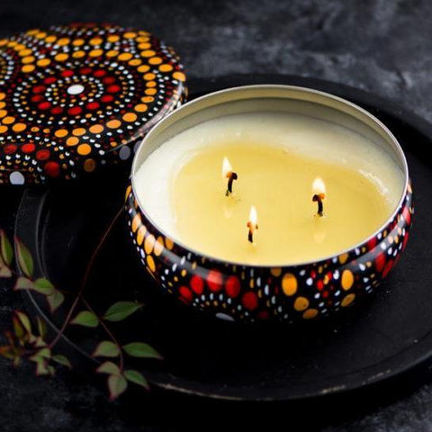 Keiora Candles - Saltwater Dreamtime Yellow-Keiora-Starwin Social Enterprise