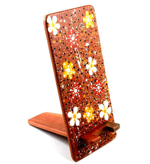 Manapan Phone Holder: Painted Flowers