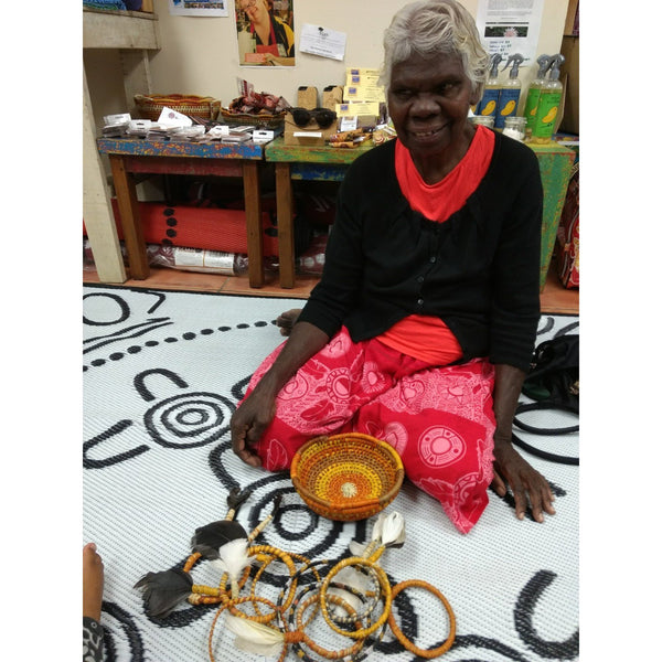 Starwin Social Enterprise, Tiwi Weaving - Small basket by Jacinta