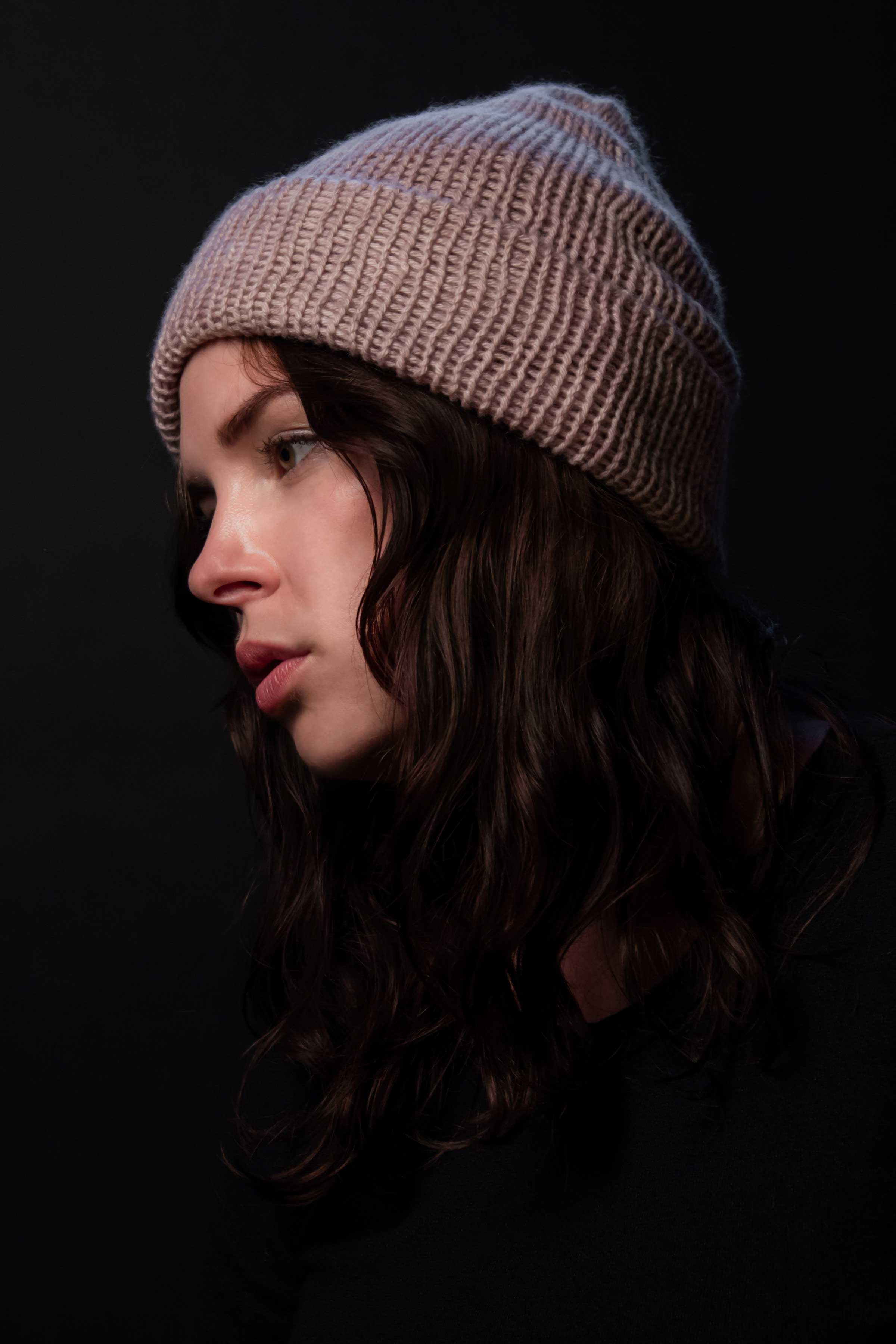 Pure Cashmere Beanie in Fog Grey