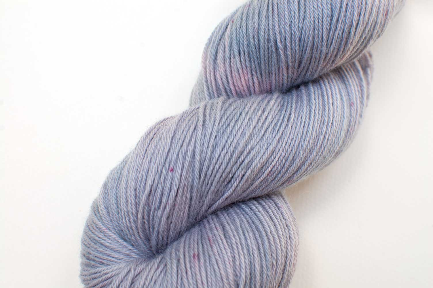 Cashmere Merino Luxe in Organic Indigo and Lac Speckle
