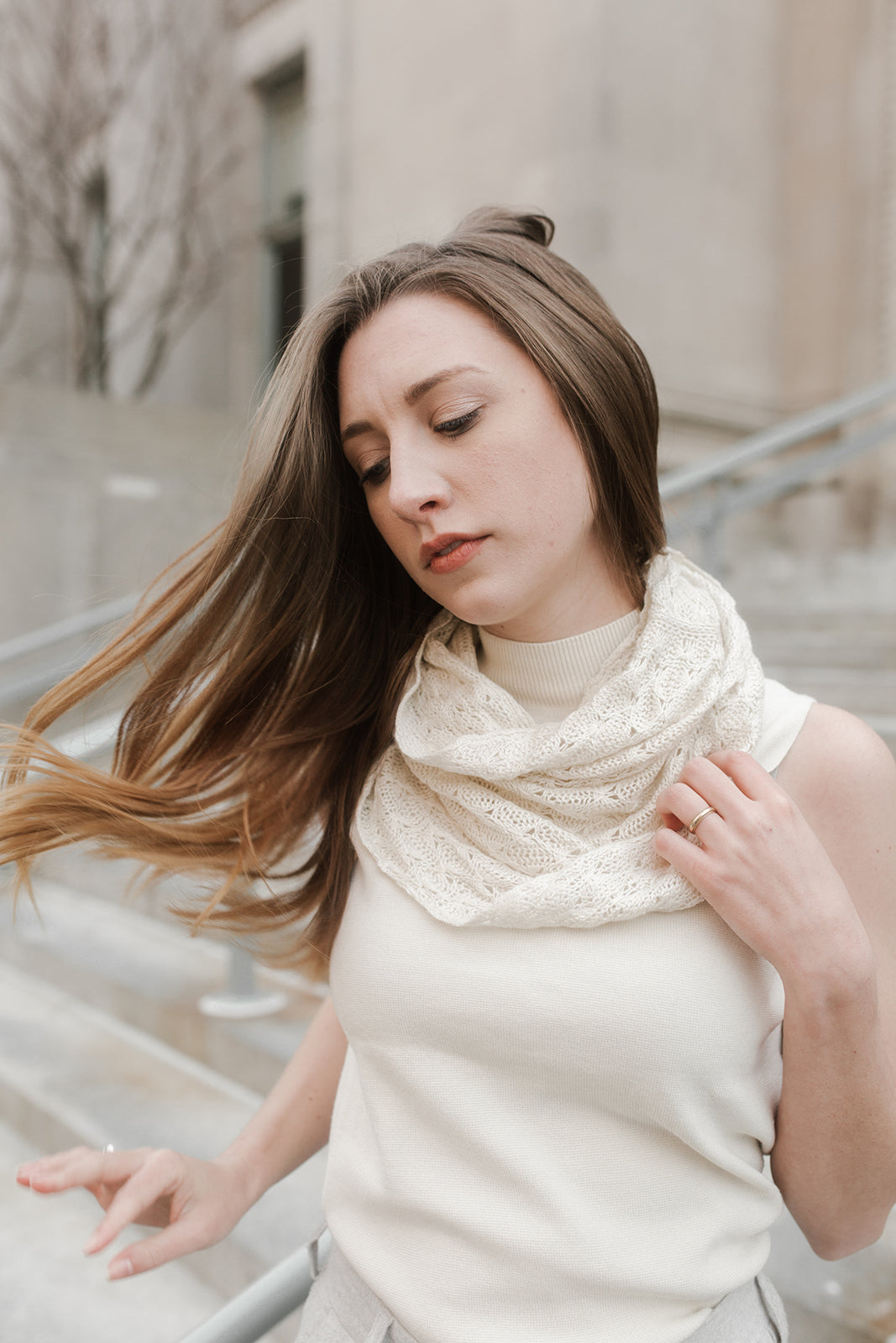Silk and Cashmere Nasturtium Cowl