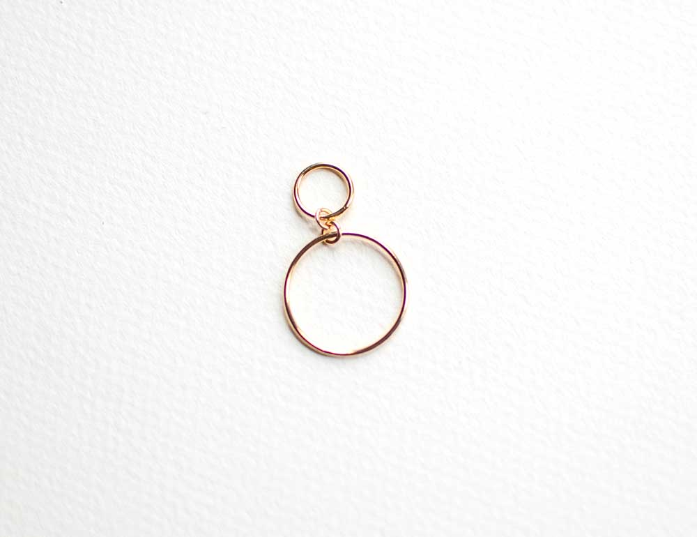 Gold Circles Stitch Marker