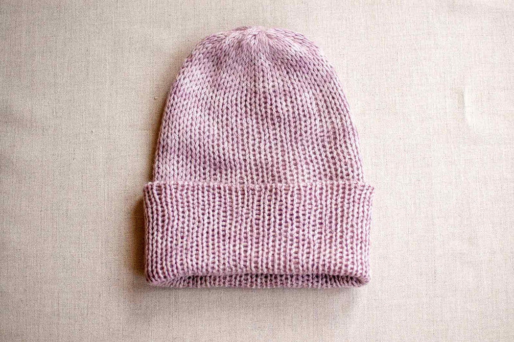 Pure Cashmere Hat in Lilac