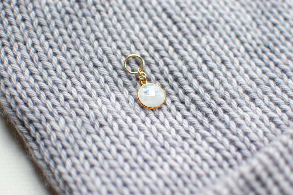 Gemstone Stitch Marker in Moonstone