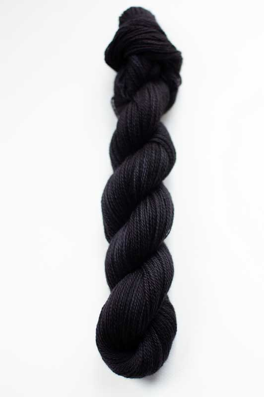 Silk Cashmere Cloud in Coal Black
