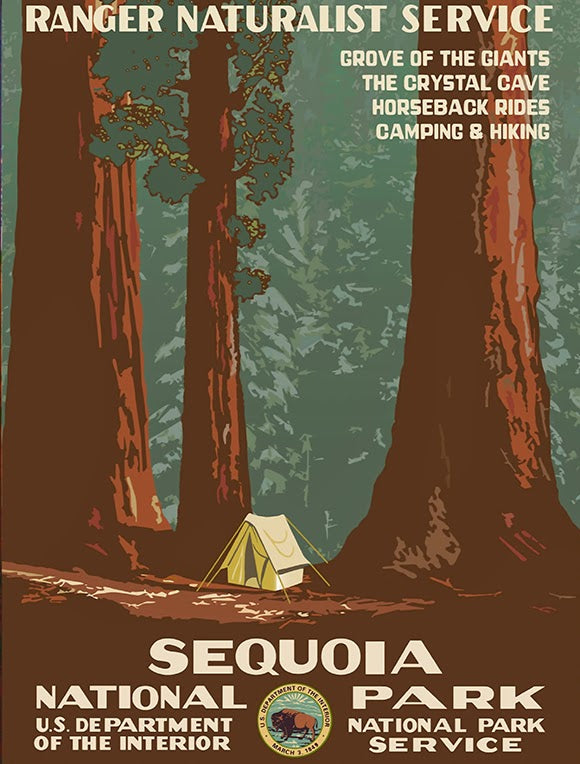 Sequoia National Park WPA 1938