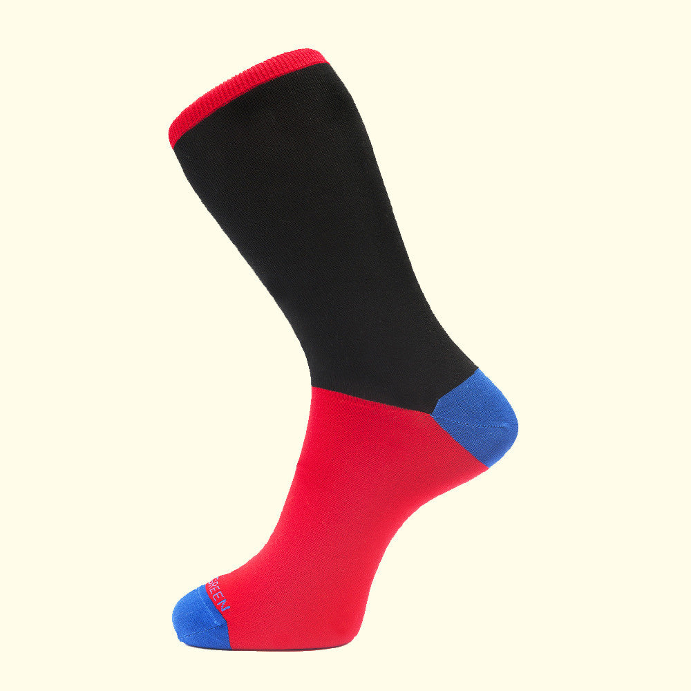 Fortis Green Black Block Sock
