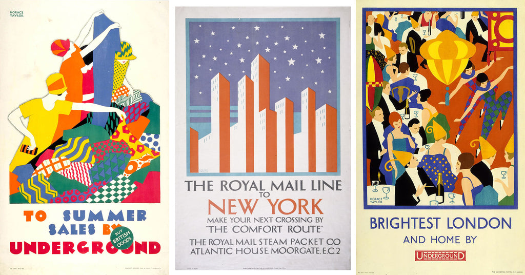 1920s Art Deco posters by Horace Taylor