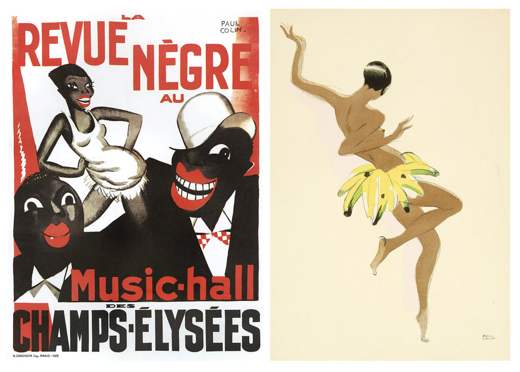 Paul Colin Art Deco posters of Josephine Baker circa 1925 and 1929
