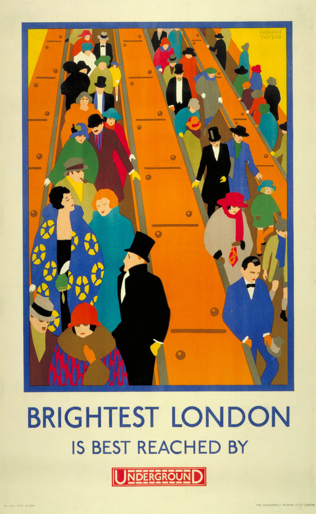 Brightest London is Best Reached by London Underground 1924 by Horace Taylor