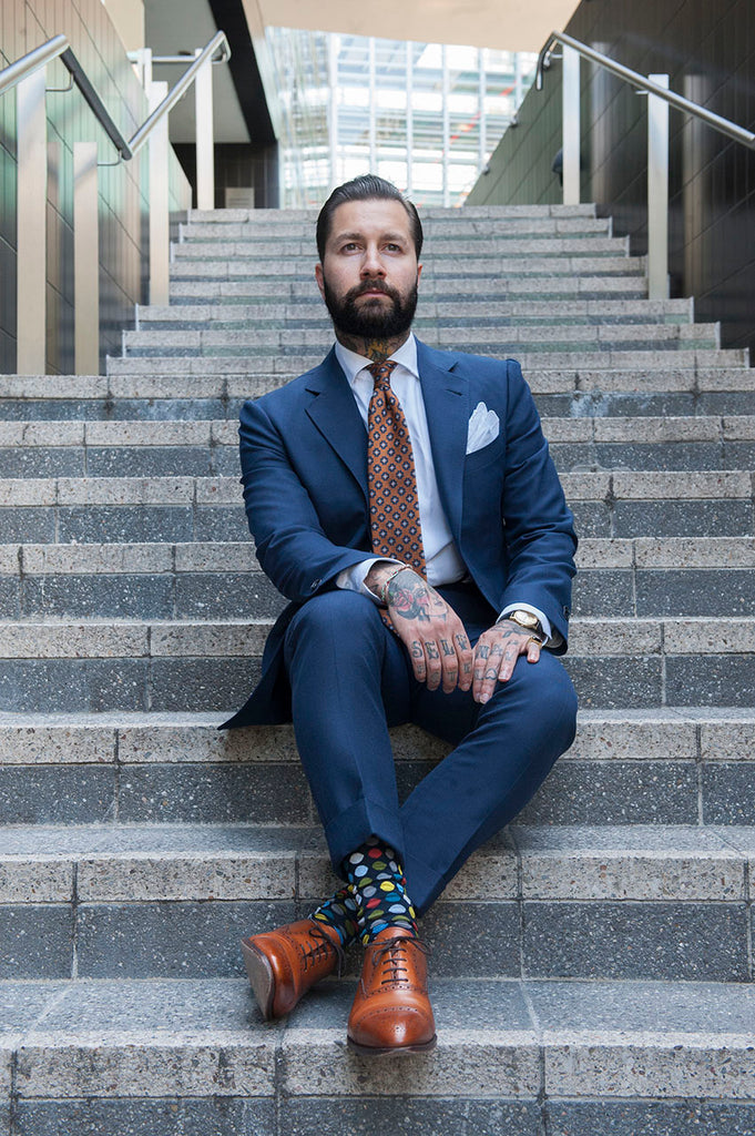 Fortis Green mens guide: How to wear pattern socks