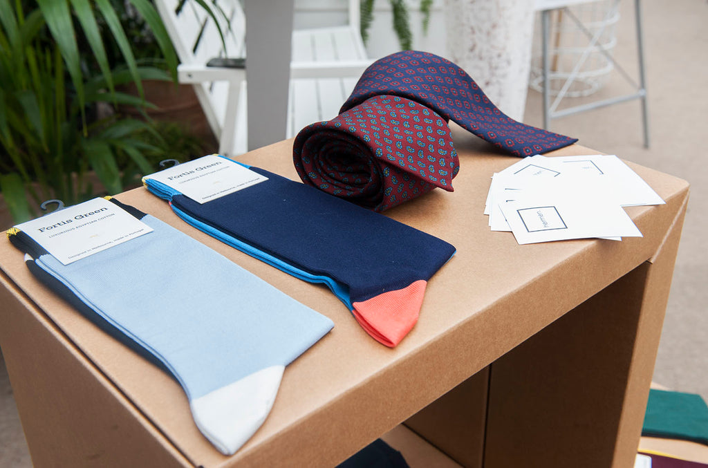 Fortis Green socks Hermen stand MR Event 2015 Melbourne Spring Fashion Week