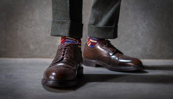 Fortis Green luxury men's pattern socks