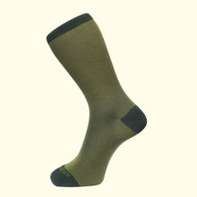 Load image into Gallery viewer, Fine Stripe Pattern Sock in Green by Fortis Green