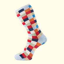 Load image into Gallery viewer, Check Pattern Sock in Light Blue by Fortis Green