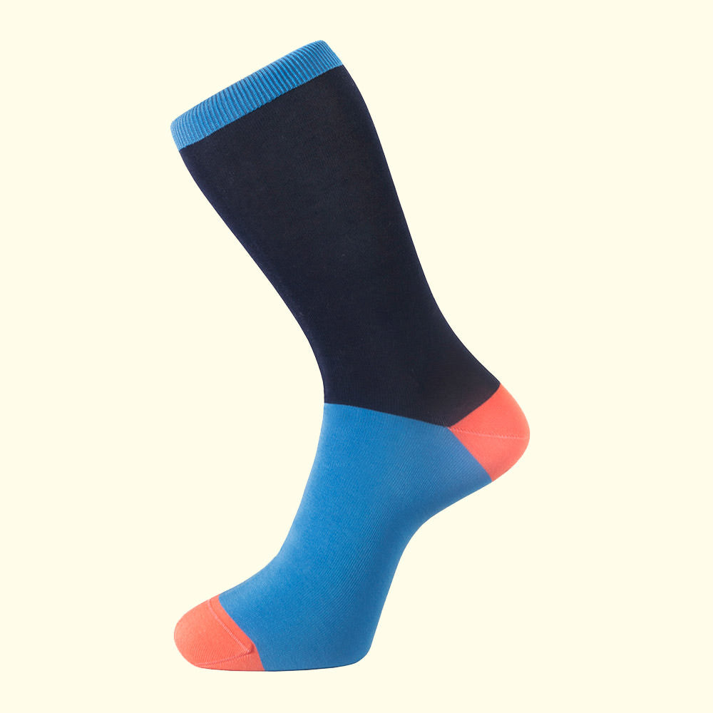 Block Colour Sock in Navy Blue by Fortis Green