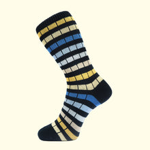 Load image into Gallery viewer, Chunky Knit Stripe Sock in Navy by Fortis Green