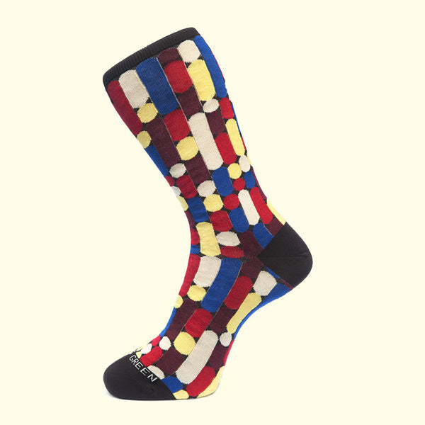 luxury men's colorful socks Brown pattern sock