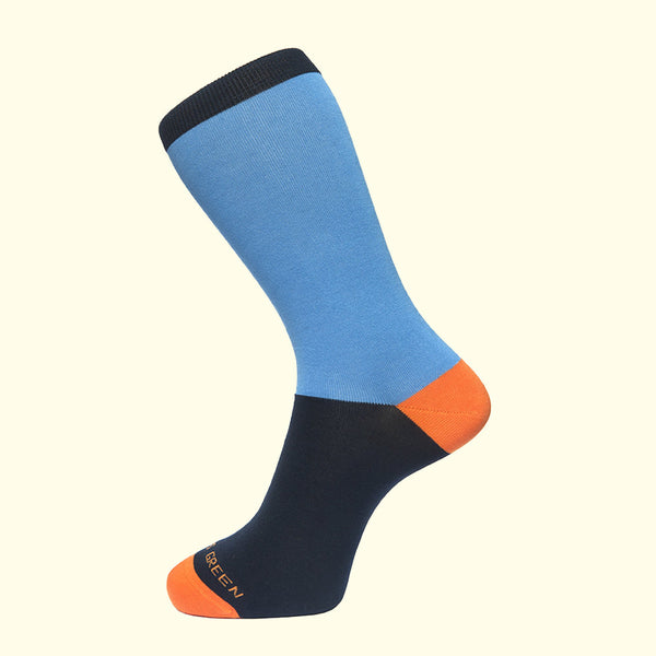 Block Colour Sock in Sky Blue