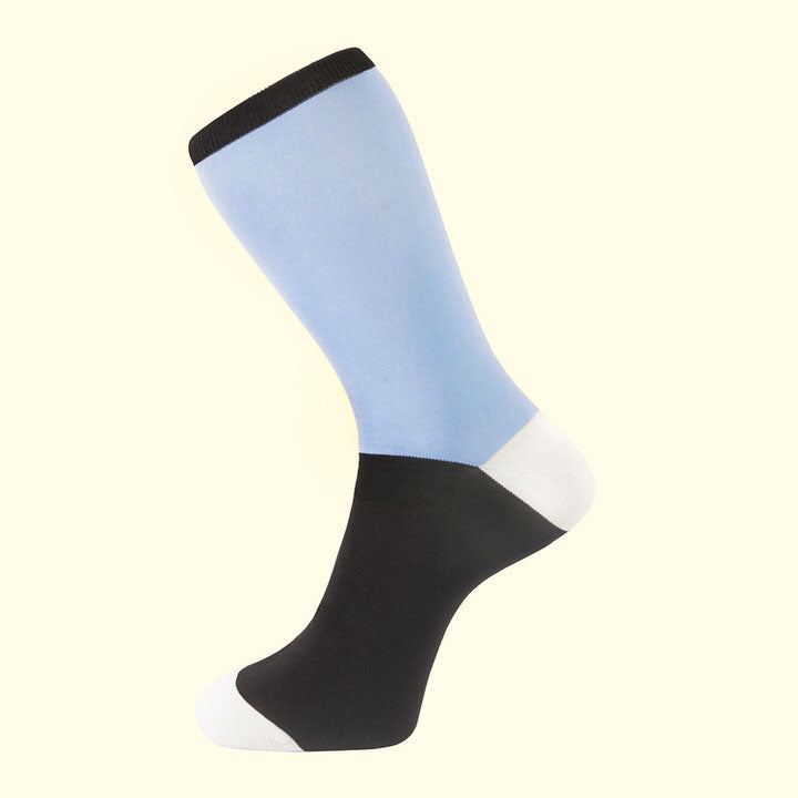 Block Colour Sock in Light Blue by Fortis Green