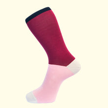 Load image into Gallery viewer, Block Colour Sock in Plum by Fortis Green