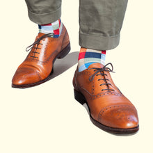 Check Pattern Sock in Light Blue by Fortis Green