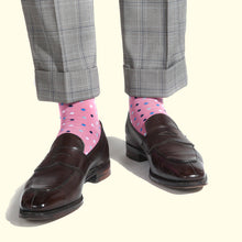 Microdot Pattern Sock in Pink by Fortis Green