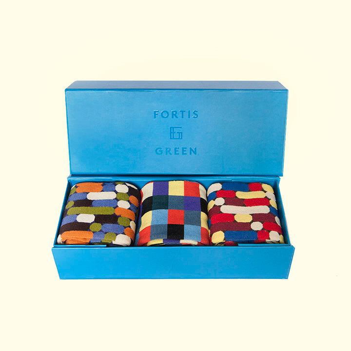 Three Pack Gift Box - Baton Pattern by Fortis Green