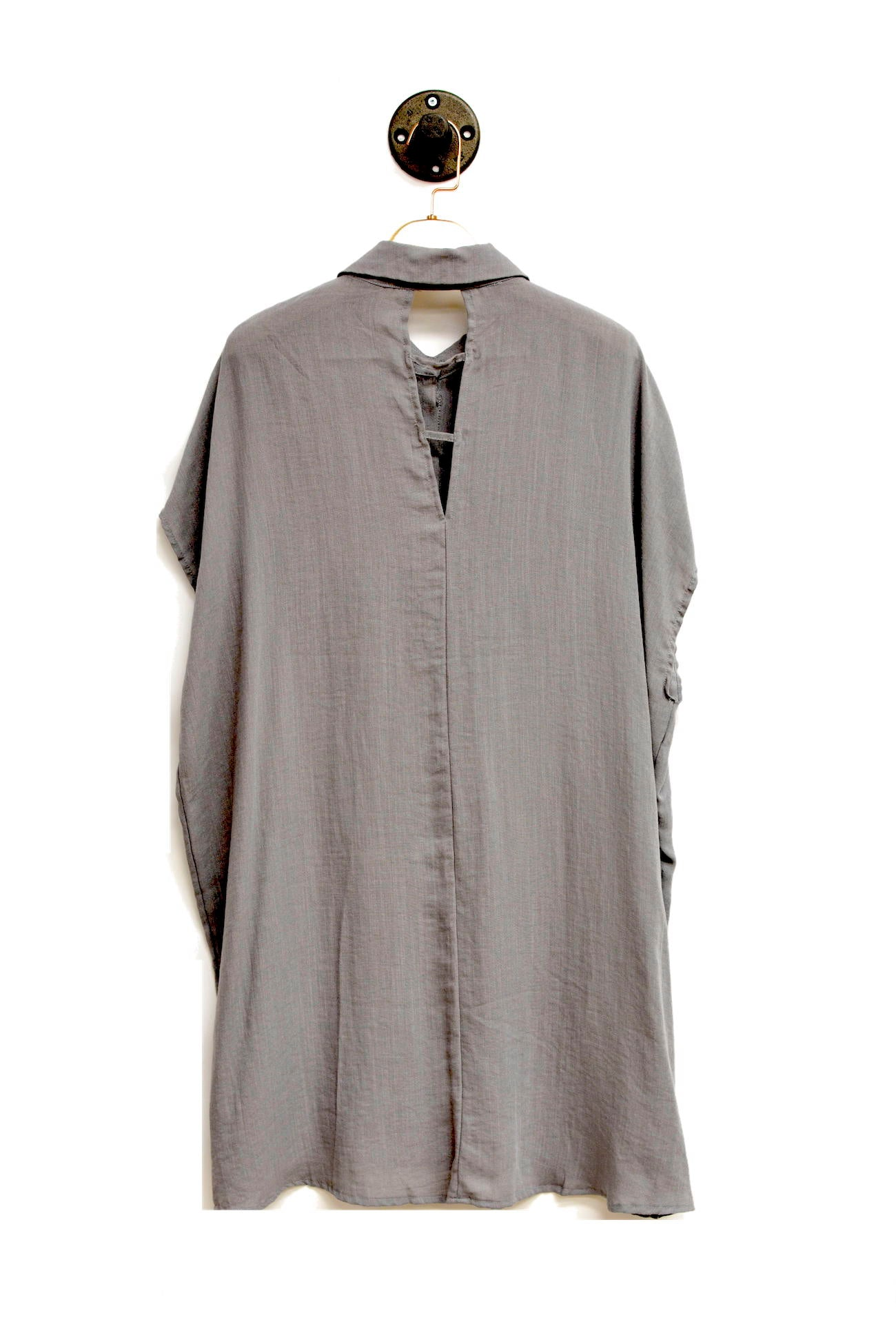 Dolman Sleeve Button-up Shirt