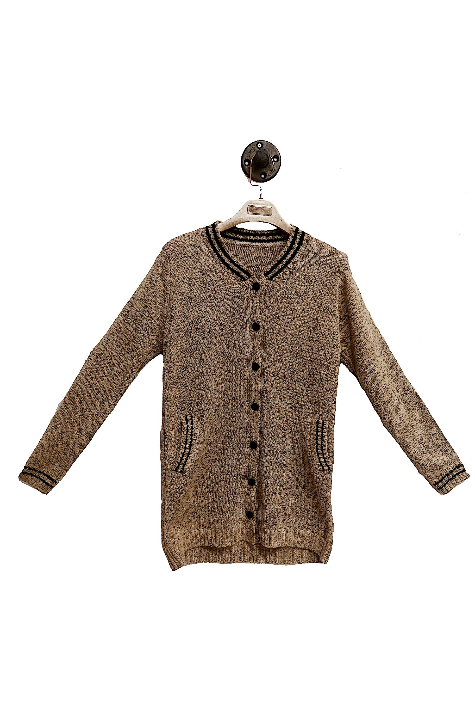 Light Brown Varsity Cardigan