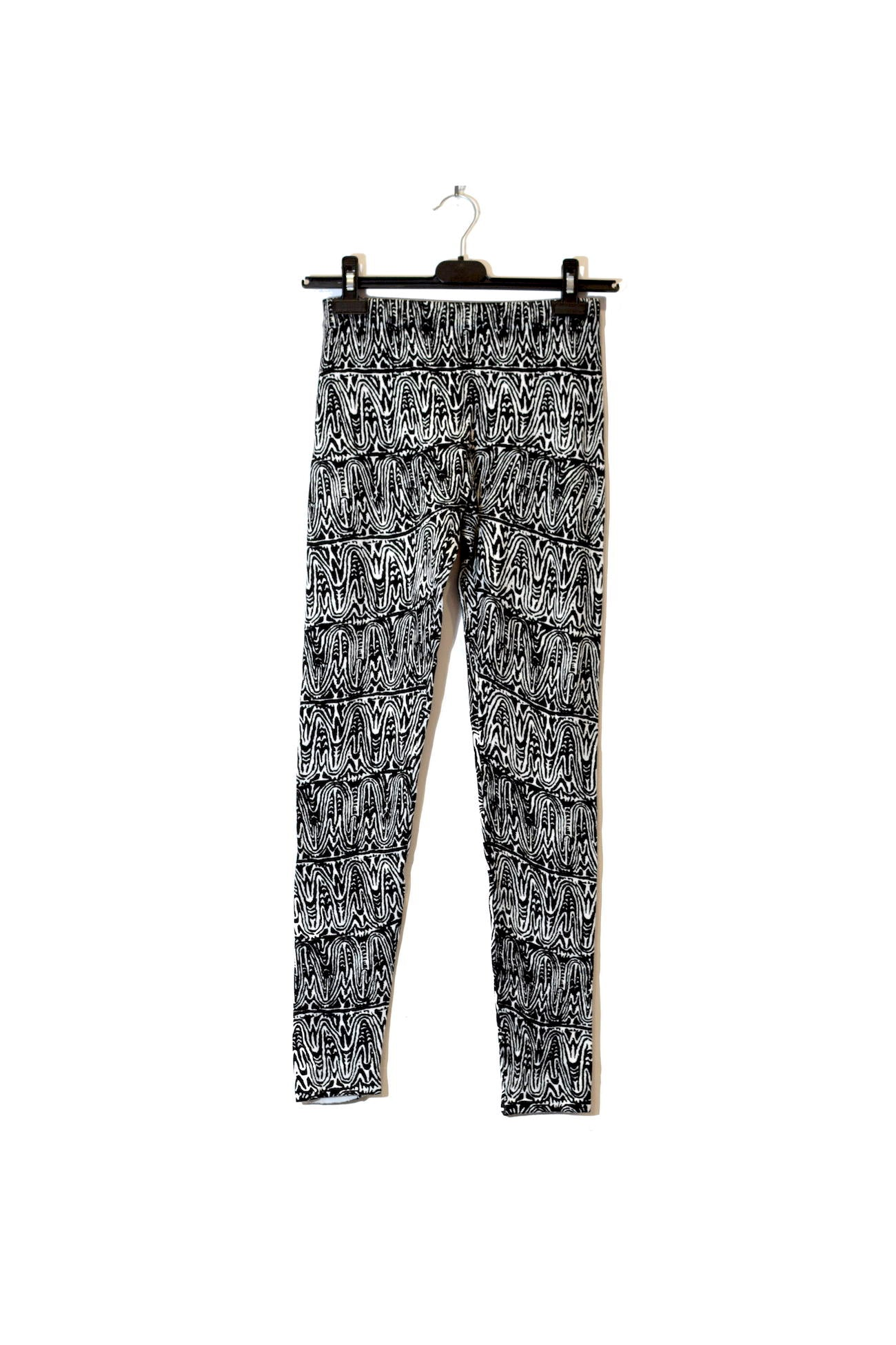 Abstract Printed Leggings With Elastic Waistband